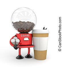 machine, café, robot