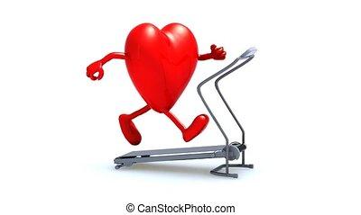machine, coeur, marche
