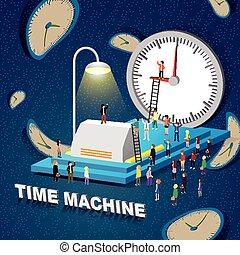 machine, concept, temps