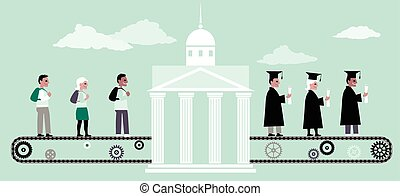 machine, education, plus haut