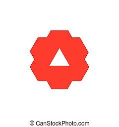 machine, géométrique, dent, vecteur, conception, triangle