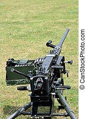 machine, herbe, fusil