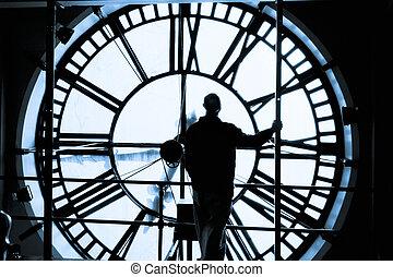 machine, horloge