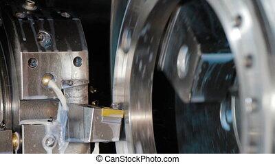 machine, métal, moudre, détails