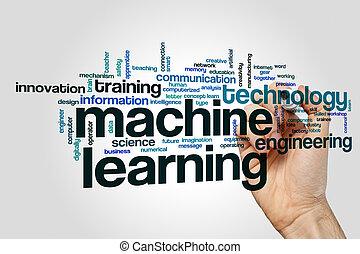 machine, mot, apprentissage, nuage