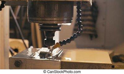 machine, moudre, travail, eau, refroidissement, cnc