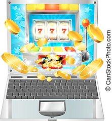 machine, ordinateur portatif, concept