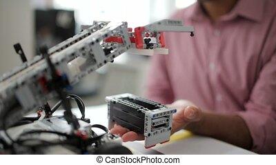 machine, processus, essai, robotique