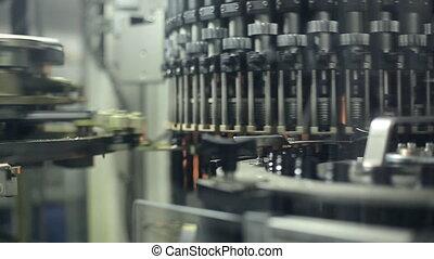 machine, production, bouteilles, plastique