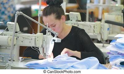 machine, professionnel, couture, studio, business