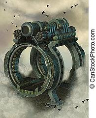 machine, steampunk