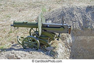 machine, vieux, fusil