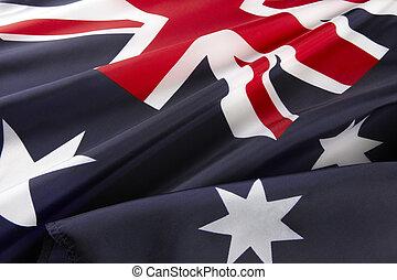macro, australien, coup, drapeau
