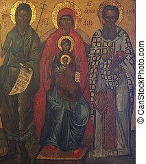 madone, enfant, saints, jésus