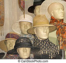 magasin, chapeaux