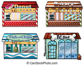 magasin, chouchou, fish, beignet, boulangerie, magasin, chips, magasin