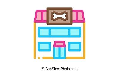 magasin, chouchou, icône, animation
