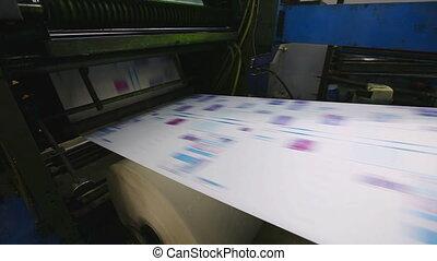 magasin, couleur, travail, typographie, machine, impression