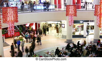 magasin, foule
