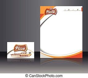 magasin, identité, constitué, pizza