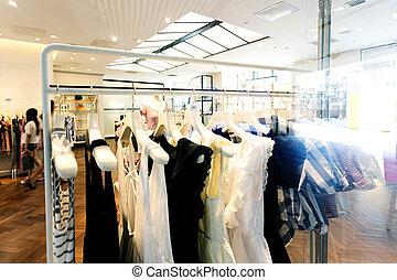 magasin, intérieur, moderne, mode