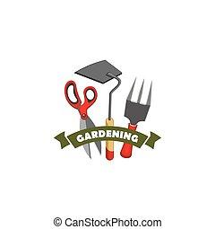 magasin, jardinage, travail, vecteur, agriculture, outils, icône