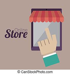 magasin, ligne