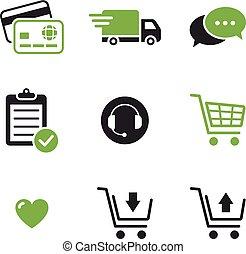 magasin ligne, icônes