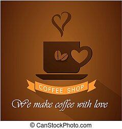magasin, logo, café