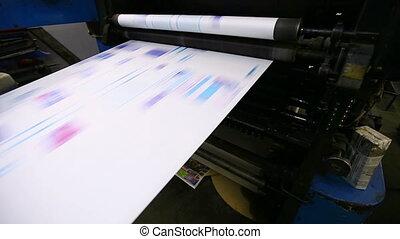 magasin, machine, travail, typographie, cmyk, impression