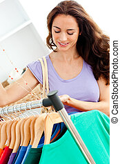 magasin, mode, femme hispanique