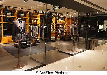 magasin, mode, storefront, moderne, vitrine