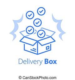 magasin, multiple, postal, produits, livraison, achat, vente gros, paquet, ensemble, recevoir, articles