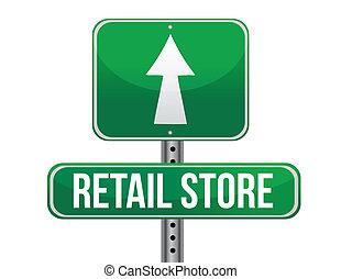 magasin, panneaux signalisations