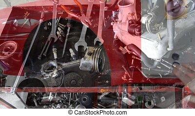 magasin, réparation auto