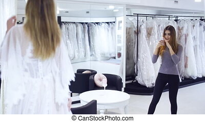 magasin, tries, robe, girl, mariage