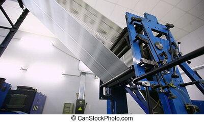 magasin, usine, journal, production, impression, ligne