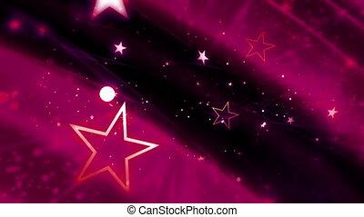 magenta, cosmique, étoiles, boucle