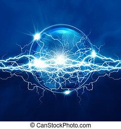 magie, électrique, sphère, résumé, arrière-plans, éclairage, cristal