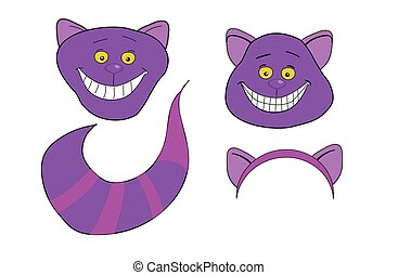 magie, tail., cat., cheshire, long, animal