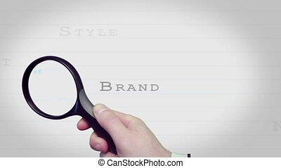 magnifier, b, business, verre, conclusion