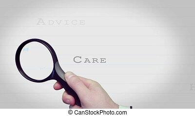 magnifier, c, verre, conclusion, client