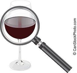 magnifing, verre vin