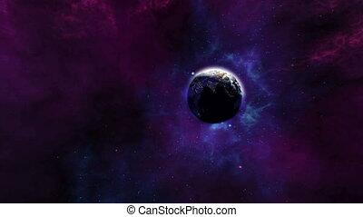 magnifique, zoom, la terre, 4k, univers