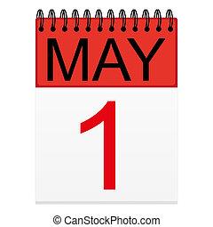 mai, 1, calendrier