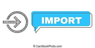 maille, balloon, mal placé, icône, importation, filet, conversation