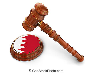 maillet, bahrain, bois, drapeau