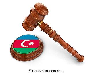 maillet, bois, azerbaïdjan, drapeau