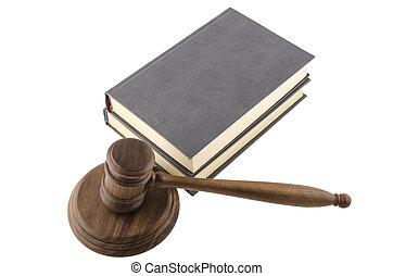 maillet, bois, thème, livres, juge, droit & loi, marteau