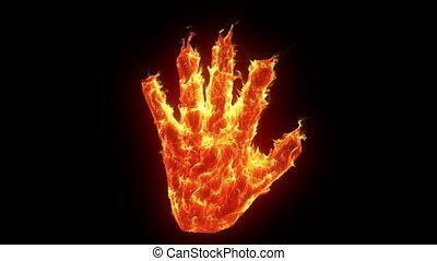 main, brûlé